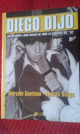 Libro Diego Dijo Las Mejores 1000 Frases De Toda La Carrera Del 10