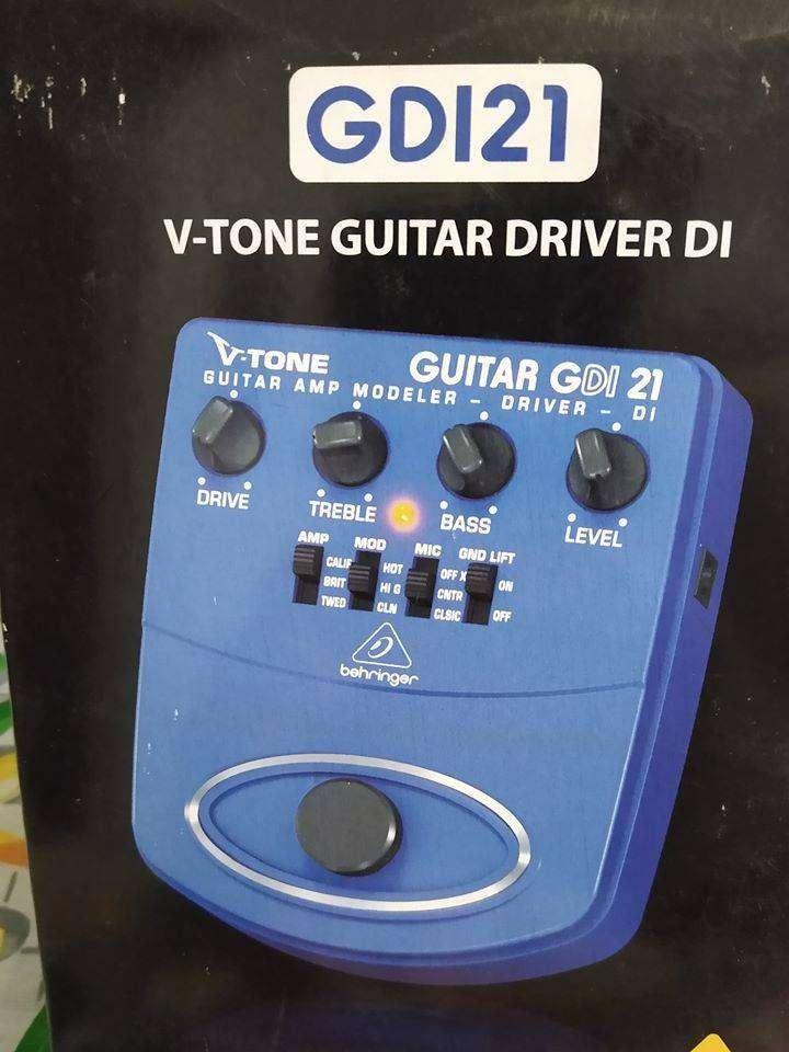 Behringer GDI21 V-Tone Pedal de Preamplificación de Guitarra 0