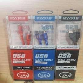 Cable De Datos Usb 3.0 Usb Tipo C 3.1 p Samsung S8 S8+ S9 S9 Plus S10 S10E S10+  1,5 mtr