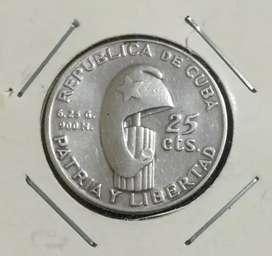 Moneda de plata de Cuba