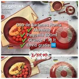 Set de sartenes x2 Roma