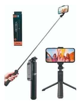Palo de selfie y tripode con control Q01