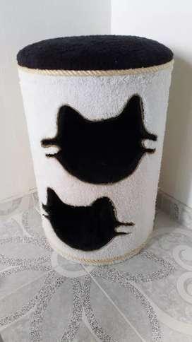 Cama doble para gato