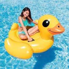 Flotador Pato Pequeño Amarillo Piscina 0