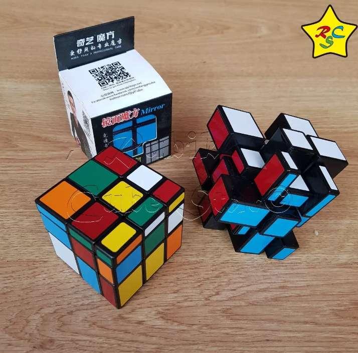 Mirror Doble Solución Camaleón Cubo Rubik 3x3 Colores Qiyi 0