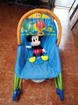 silla mecedora fisher price  vibra+ musica+juguetes