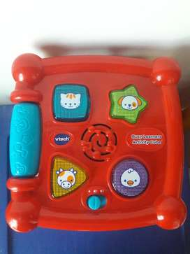 Cubo interactivo vtech juguete de aprendizaje con sonido Usadoado