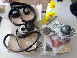 Kit correas y tensores distribucion y poly v mas bomba de agua fluence duster motor k4m