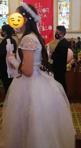 Lindo vestido primera comunión