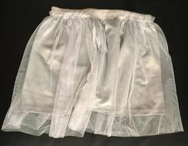 Falda niña gris