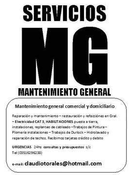 Servicio de Mantenimientos generales
