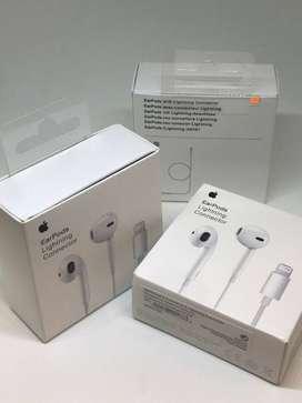 Audifonos earpods lightning originales Apple nuevos en caja 1 año de garantia DOMICILIO GRATIS