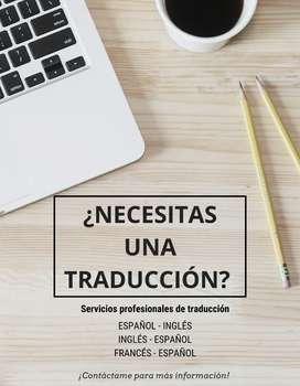 ¿Necesitas un traductor?