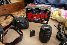 Camara Canon Eos Rebel T6i Lente 18-55 Stm