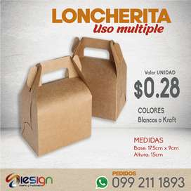 Cajas delivery para envio de comida rapida