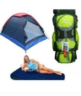 Combo Carpa Camping 4 Per + Colchon + Bomba +morral
