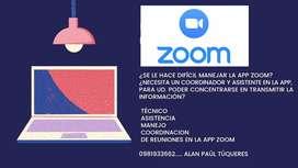 Encargado de gestionar plataforma Zoom