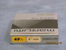 Filtro Marumi 6 x Cross 49 mm. Nuevo. Estuche Original.