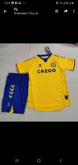 Uniformes de futbol Everton