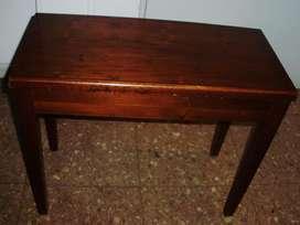 Banqueta Taburete Para Piano Guarda Partituras De Madera Vintage