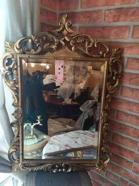 Espejo antiguo francés espejo biselado tallado Luis  xv Luis xvi ay barrocos espejos grandes cristal dormitorio Luis 15
