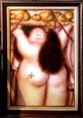 Desnudo, Alcadio González, oleo sobre lienzo