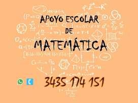 Apoyo Escolar de Matemática