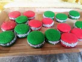 Alfajorcitos de Maicena de colores por docena