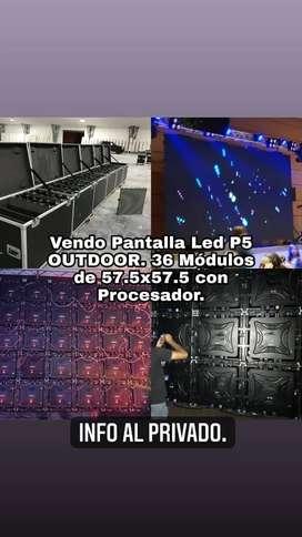Vendo Pantalla Led p5 12 metros 4x3