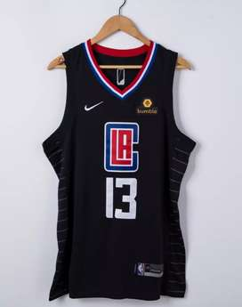 Camisa NBA Clippers Negra Nike