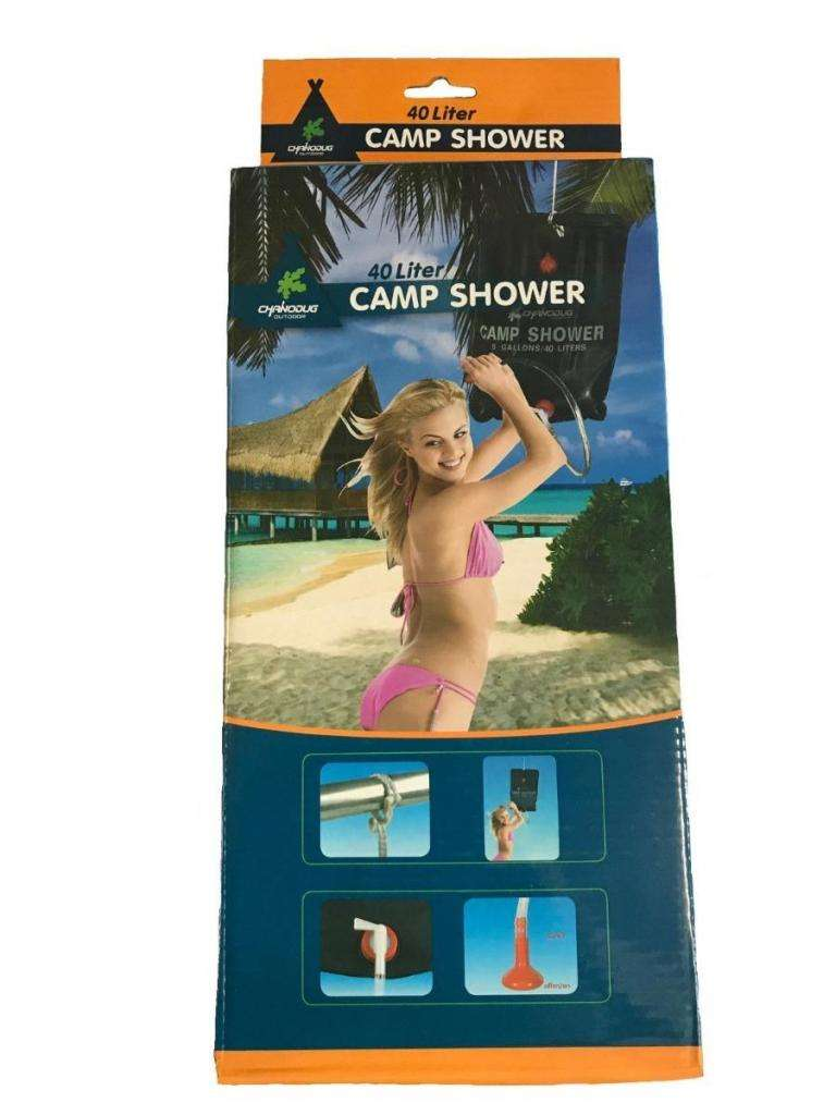Ducha solar camp shower para camping de 40 litros NUEVA
