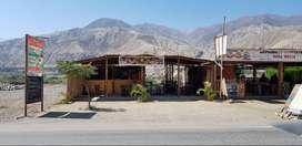 Alquilo local comercial ideal para restaurante / Lunahuaná Cañete / Zona turística.