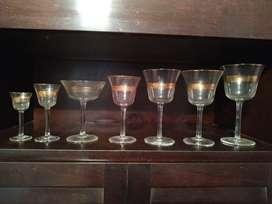 Juego de Copas Antiguas de Vidrio
