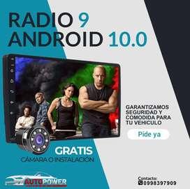 "Radio Android full HD pantalla IPS 9"" universal / Wifi / GPS/ bluetooth / cámara de reversa"
