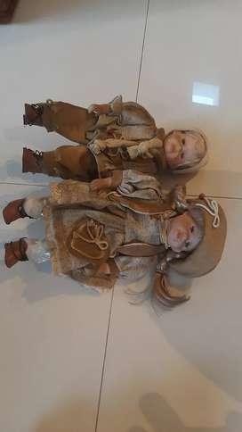 Vendo 2 muñecas antiguas de porcelana