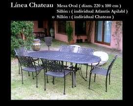 Mesas Chateau Oval de Fundicion de Aluminio 160 x100 220 x100,272 x 100