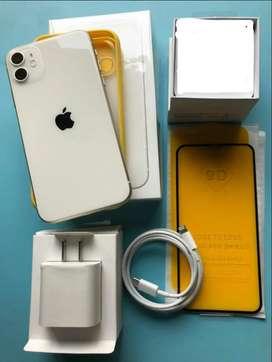 iPhone 11 64 Gb White Vidrio9d Adaptador Energía Estuche