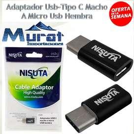ADAPTADOR USB TIPOC MACHO A MICRO USB HEMBRA