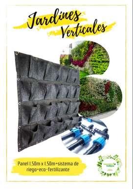 Combo Jardín Vertical (42 Bolsillos)+sistema De Riego+eco-fertilizante+ envío