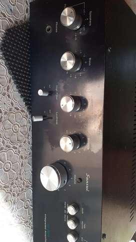 sonido retro tornamesa y amplificador saonsui450000 los dos