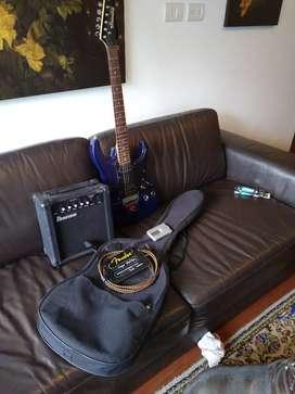 Guitarra ibanez más accesorios