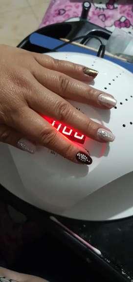 Remato maquina lampara uñas uvled 2 en 1 nueva