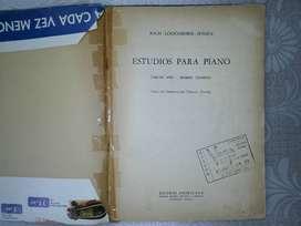 PARTITURAS: ESTUDIOS PARA PIANO