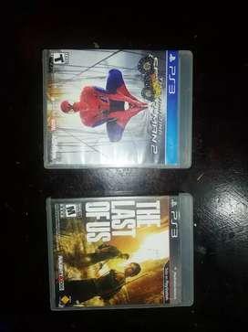 Juegos de ps3 Spiderman 2 y the last of us 1