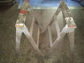 1 par de caballetes de madera,plegables,reforzados