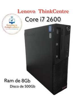 Cpu corporativa Lenovo ThinkCentre Corei7 2600 /8GB/500Gb