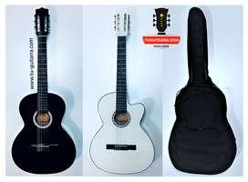 Guitarra Acústica Nacional + Forro en lona tipo maleta