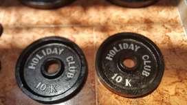 discos olímpicos de 10 kilos