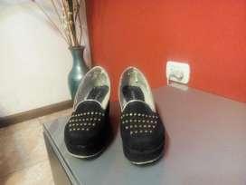 Zapatos Negro Gamuza