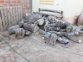 Lote de troncos para leña